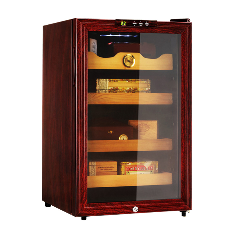 Us home with JC-65sw constant temperature and humidity cigar cabinet imported cedar wood cigar cabinet humidor refrigerated