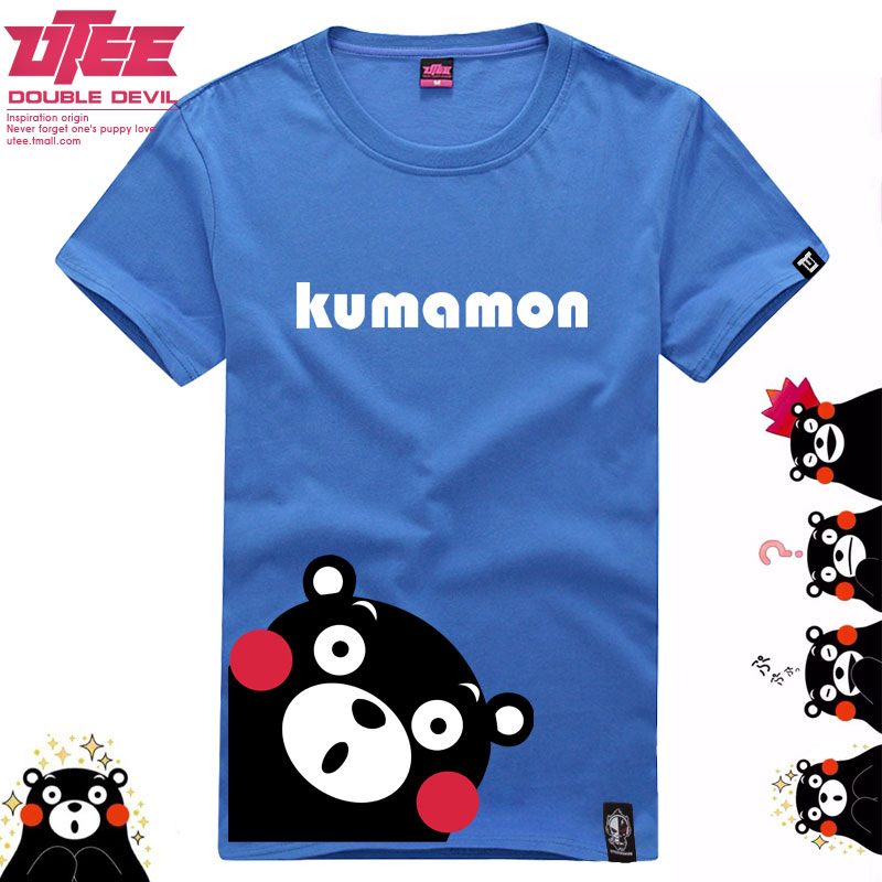 Uteekumamon kumamoto bear mascot kumamoto bear clothes animation around cotton t-shirt short sleeve