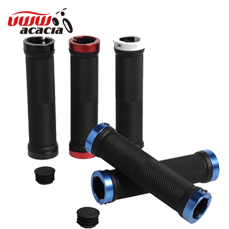 Uww mountain bike handlebar grip ergonomic rubber deputy vice bike can lock the cover to cover equipment accessories