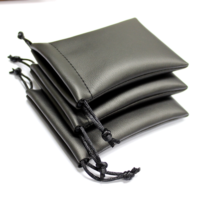 V & z earphone headset bag storage bag pu bluetooth headset mini leather protective storage bag pouch bags finishing