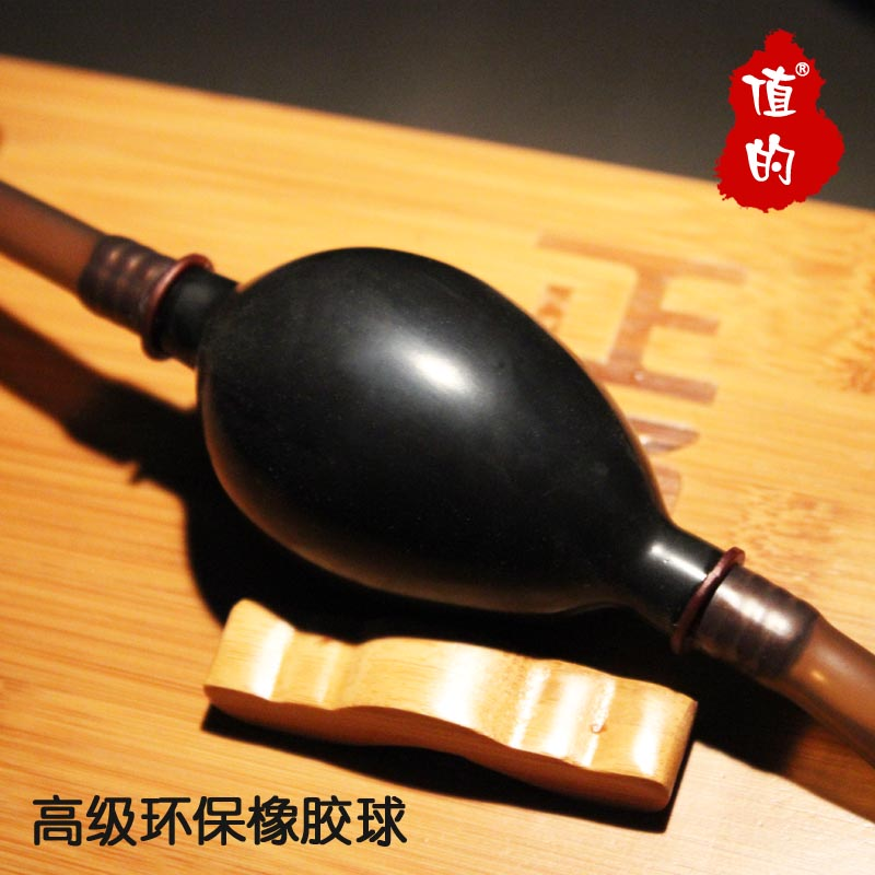 Value of kung fu tea accessories tea tray drain pipe with suction ball rubber ball aqueduct drainage antifreezing