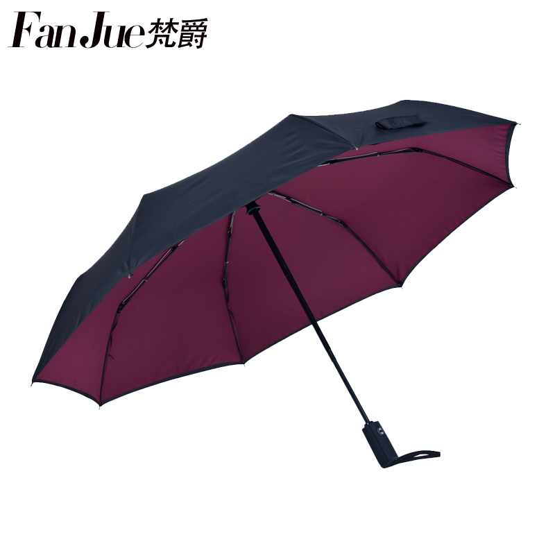 Vatican jazz automatic folding umbrella umbrella creative business men ms. double three folding umbrella rain or shine dual