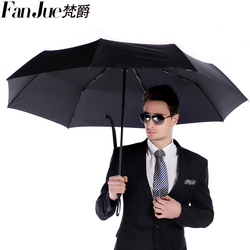 Vatican jazz automatic three folding umbrella oversized umbrella folding umbrella double wind domineering struck solid business umbrella shipping
