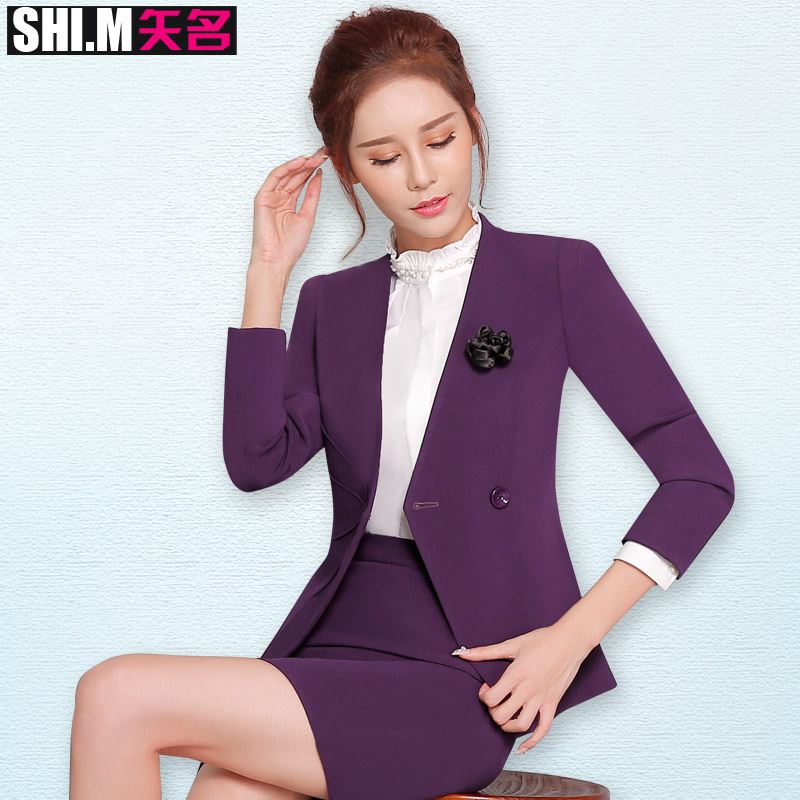 Vector name new fall women's wear suit ol fashion business sleeved suit suit overalls beautician