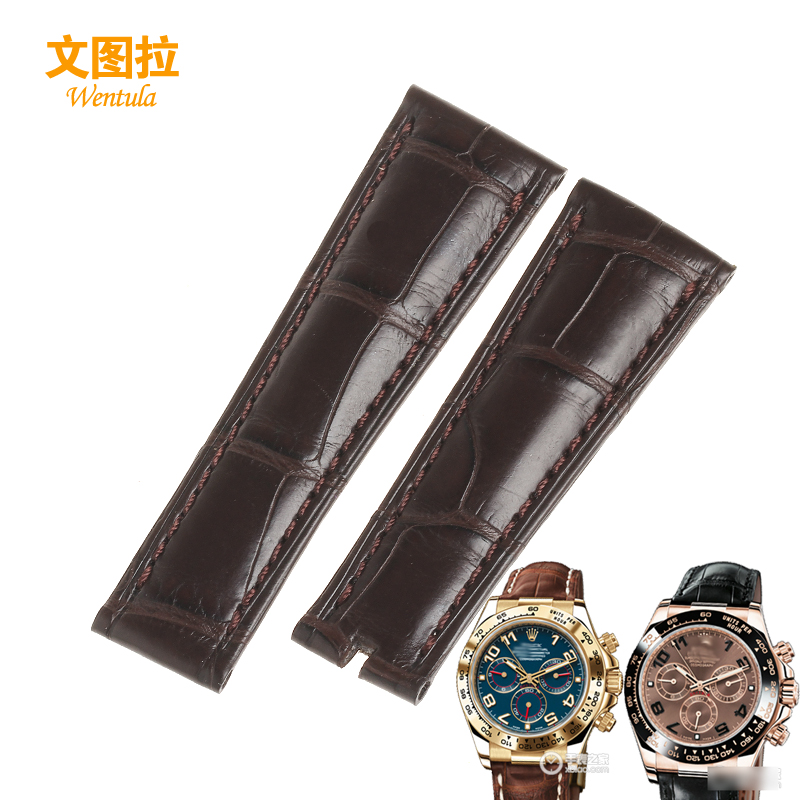 Ventura alligator strap replacement rolexes cosmograph daytona series of special leather watch band