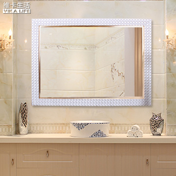 Vicat living modern korean white woven decorative bathroom mirror bathroom mirror bathroom mirror bath mirror mirror fashion