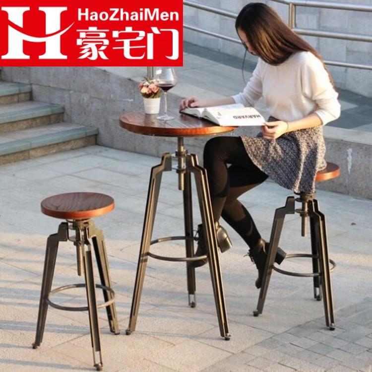 Fresh Get Quotations · Vintage wrought iron wood loft american industrial wind lift metal bar stool bar chairs bar stool Modern - Minimalist folding bar table Ideas