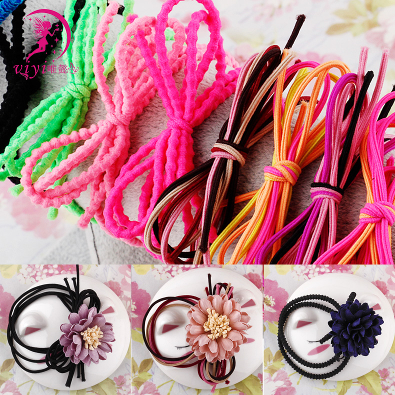 Viyi/yi wei unilateral bilateral diy handmade hair accessories material bow hair ring hair accessories hair shengpi tendon tousheng