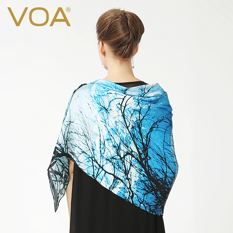 Voa digital plant new silk scarf printed silk scarves large square scarf shawl dual P928