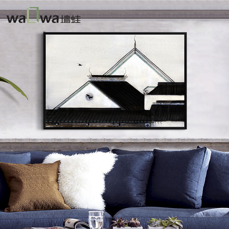 Wall frog clear a paper dream riboside wine auspicious chinese modern minimalist wall painting decorative painting the living room entrance mural paintings