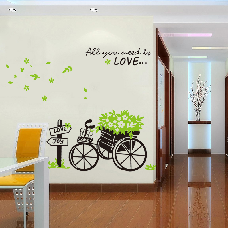 Wall stickers bedroom living room wall stickers european float decorations wall stickers creative painting background wall stickers