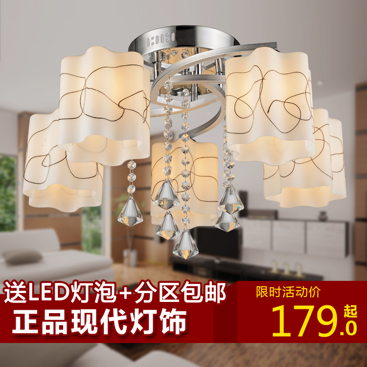 Wan han modern fashion crystal lamps bedroom living room ceiling lamp led creative restaurant lighting fixtures warm