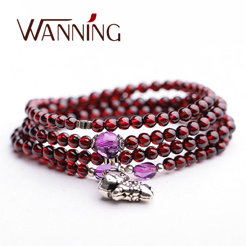 Wan ning white crystal amethyst citrine jewelry garnet bracelet bracelets female constellation of twelve good transport beads