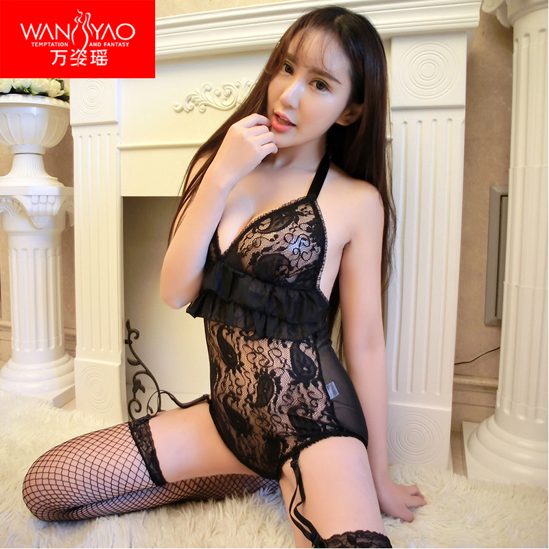 Wan zi yao sao contains adult sexy lingerie sexy sleepwear female summer lace suspenders summer thin section perspective