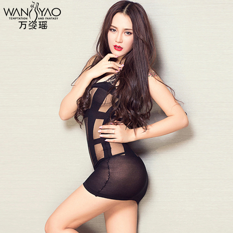 Wan zi yao tighty whiteys transparent contains adult sexy lingerie lingerie female suspenders sexy pajamas tracksuit thin
