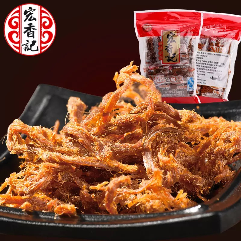Wang hong kee xo sauce shredded pieces of meat delicious pork dry five flavor independent small package deals snack snack