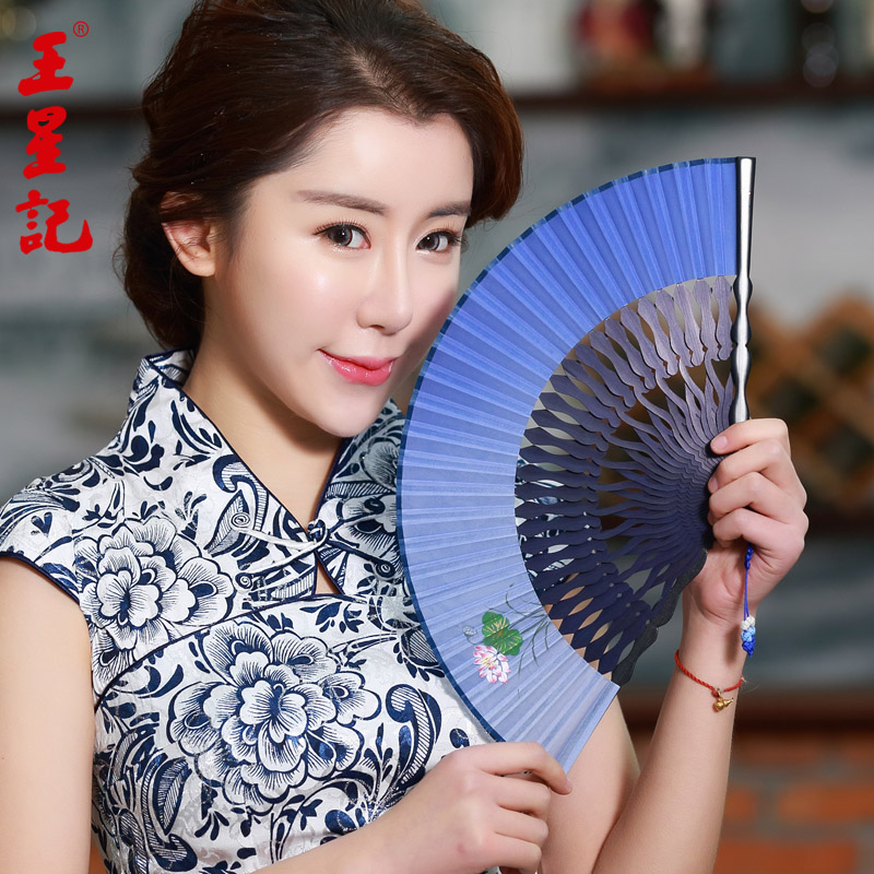 Wangxingji women painted silk fan fan of classical chinese style silk fan craft folding futon wind female