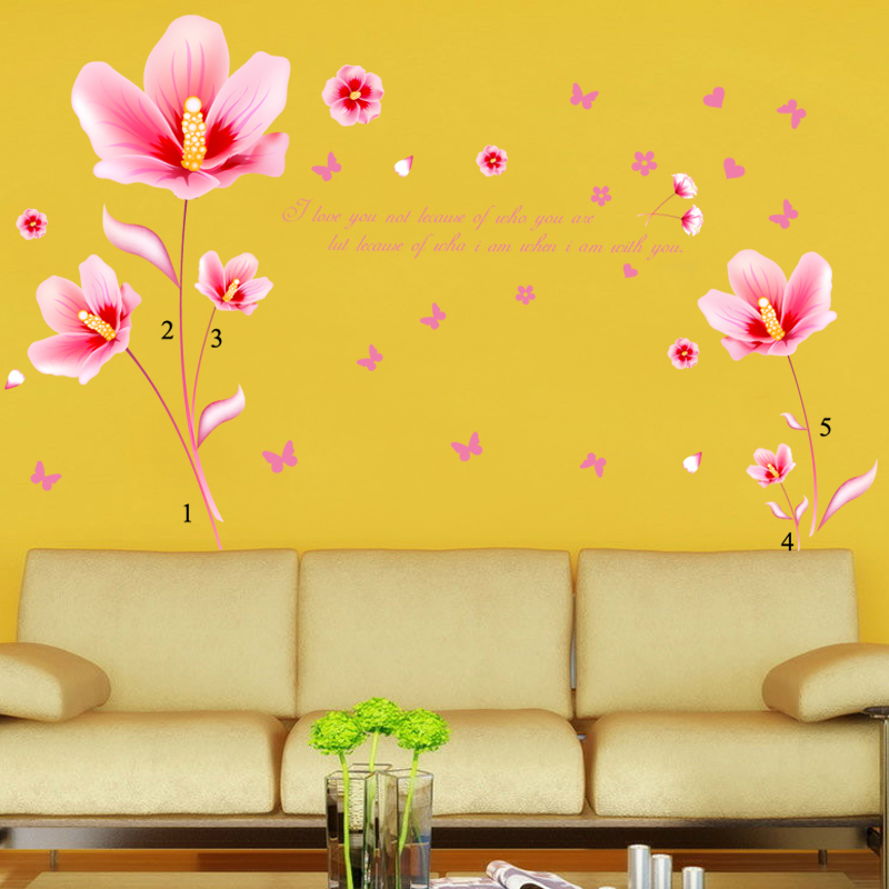 Warm floral klimts removable adhesive wall decoration interior living room sofa tv background wall stickers wall stickers