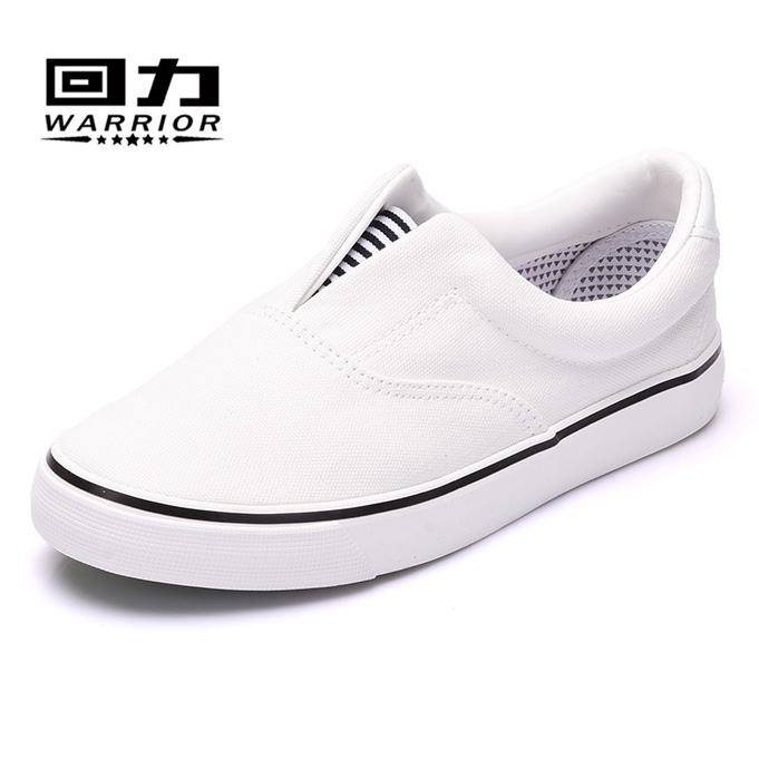 Warrior/warrior simple casual wave of men to help low canvas shoes women shoes student shoes couple shoes white shoes