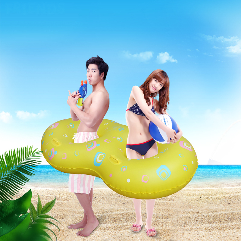 Water di adult children's inflatable swimming ring swim ring double couple surfing kayaking lifebuoy