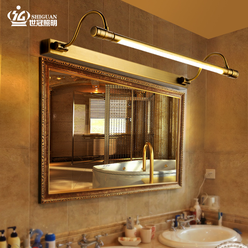 Waterproof front bathroom mirror lights led bathroom mirror front lamps american minimalist retro european jane european bathroom mirror cabinet mirror front lamps
