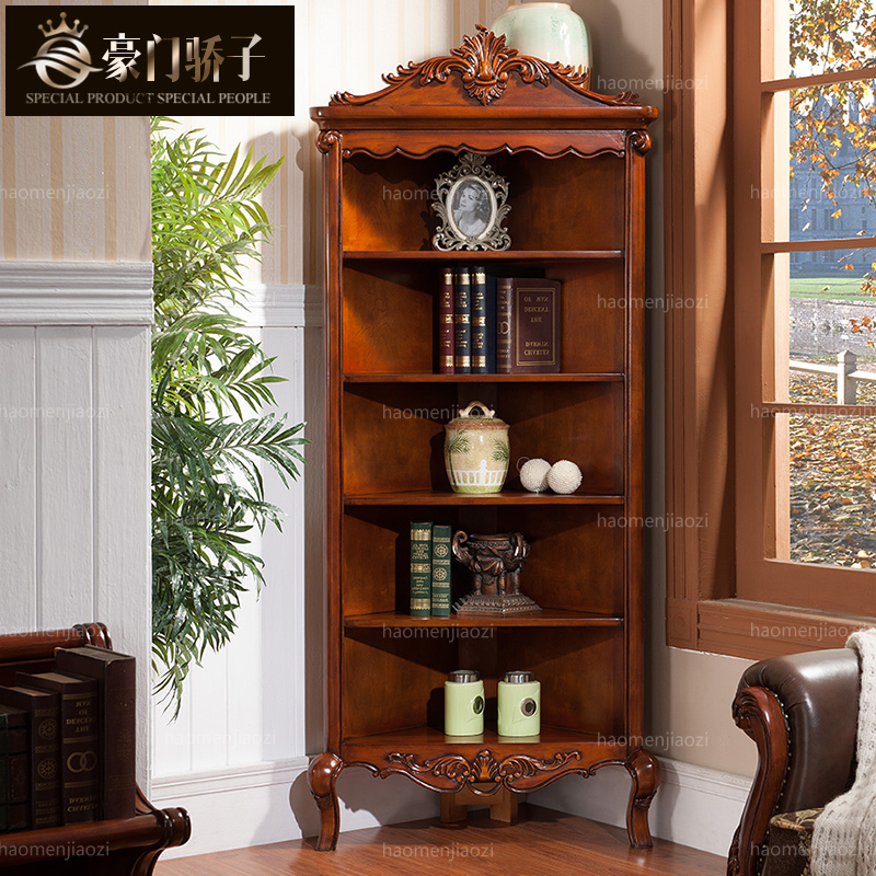 Wealthy family pride euclidian american country wood corner cabinet corner cabinet corner cabinet living room decorative storage wine storage