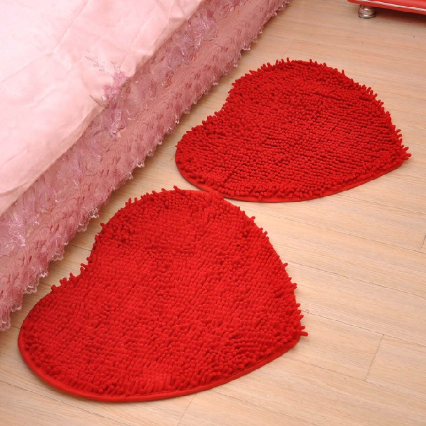Wedding celebration supplies new house decoration trick door heart carpet absorbent mats entrance mats doormat skid pad