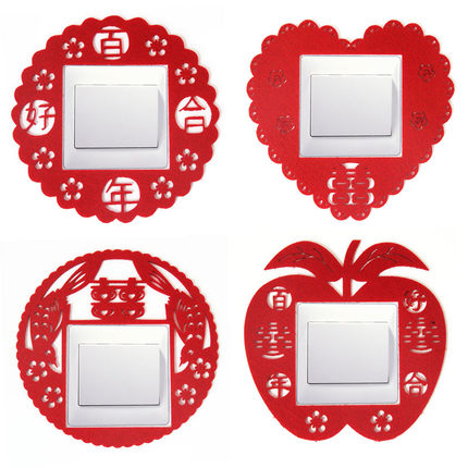 Wedding supplies arranged marriage wovens a thickening creative fashion switch stickers switch stickers switch sets