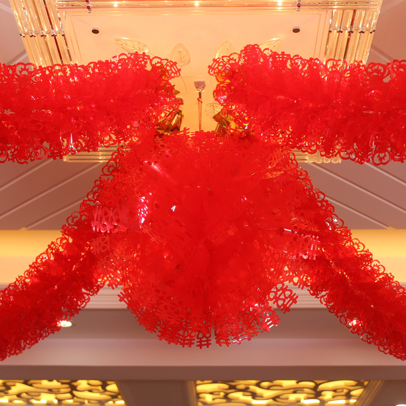 Wedding supplies wedding marriage room decorated and furnished new house decoration garland pull hi red hi hi word creative garland