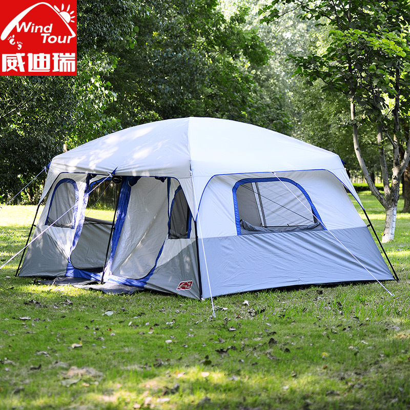Get Quotations · Wei dirui outdoor two bedroom input from the people traveling by car c&ing tent c&ing rain & China 100 People Tent China 100 People Tent Shopping Guide at ...