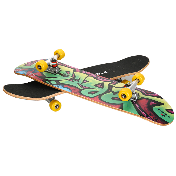 Wei masi genuine 9 of chinese maple skateboard double alice skateboard double alice intaglio athletics road board shipping