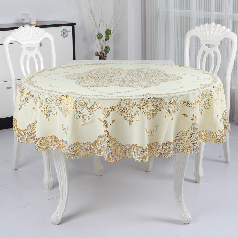 Get Quotations · Wei Shu Home Pvc Waterproof Oil Disposable Tablecloth Round  Coffee Table Tablecloth Lace Tablecloth Round Tablecloth