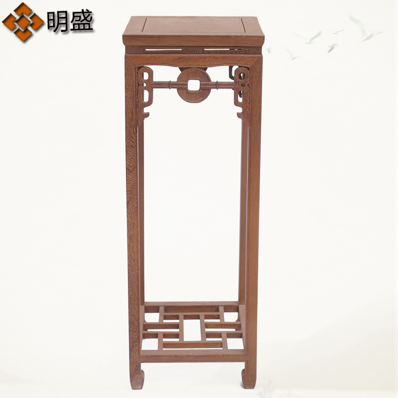 Wenge wood flower flower flower a few flower stand to spend a few chinese antique ming and qing classical mahogany furniture wenge coins to spend a few