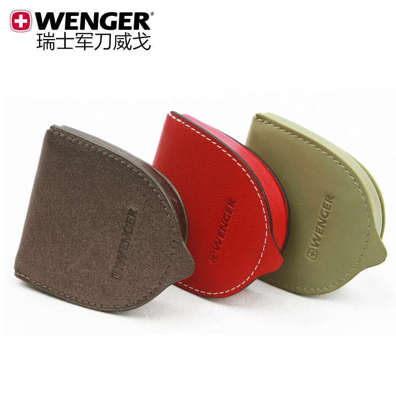 Wenger swiss army knife counter genuine ms. leather/wallet/purse/leather bag tricolor