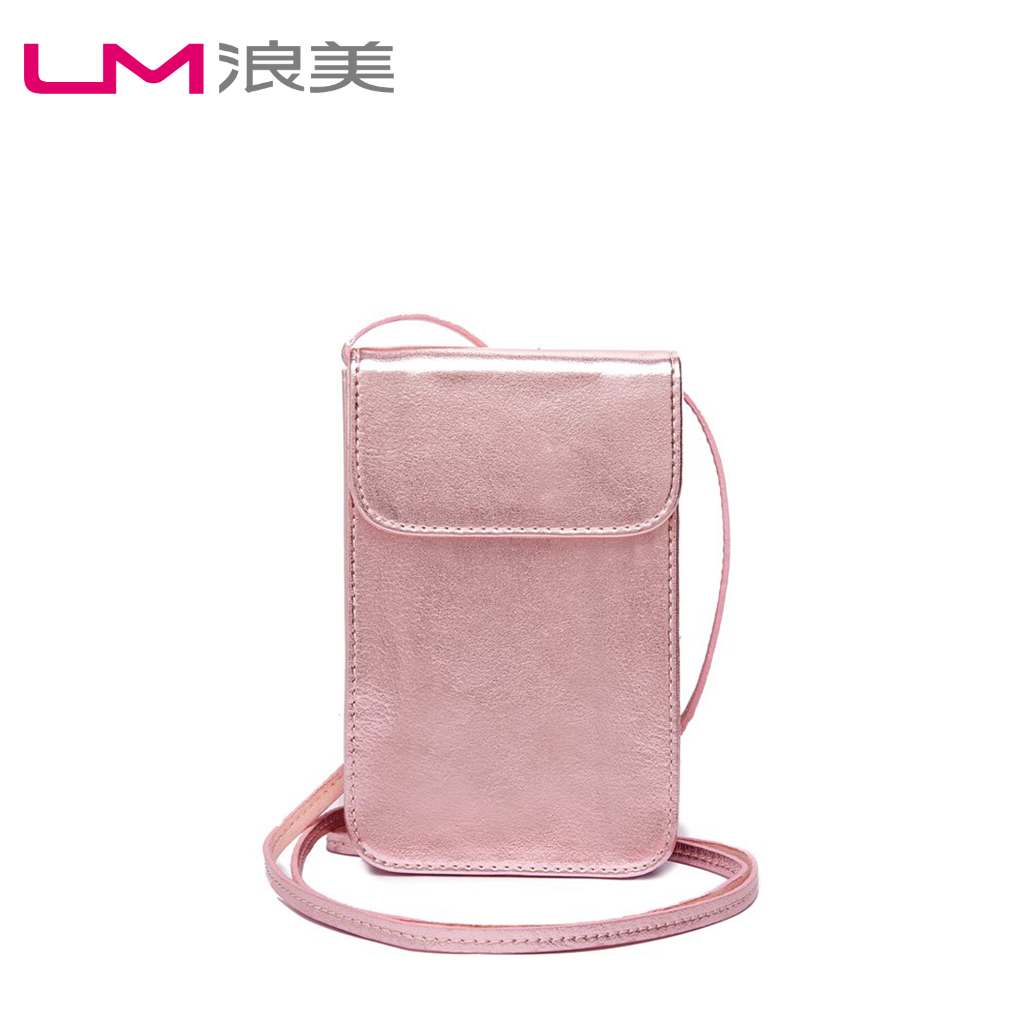 Wheat bags waves new spring and summer 2016 japan and south korea style fashion trend diagonal shoulder female bag mobile phone bag with disabilities