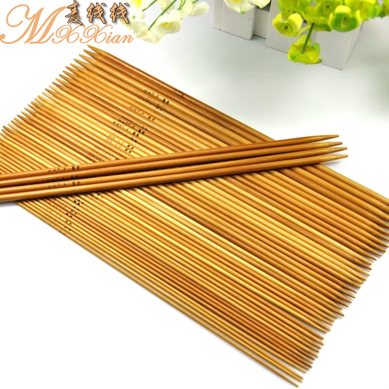 Wheat line line knitted sweater knitting needles bamboo needle sweater knitting tools carbonized bamboo needle knitting wool baby