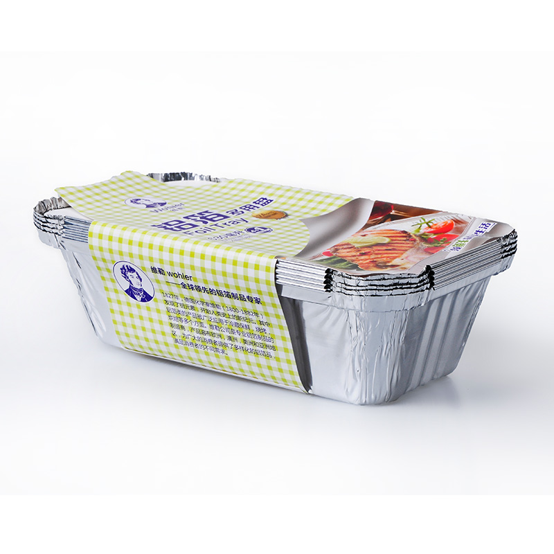 Wheeler 630ml thick aluminum foil aluminum foil aluminum foil boxes shredded bread mold aluminum foil baking barbecue plate