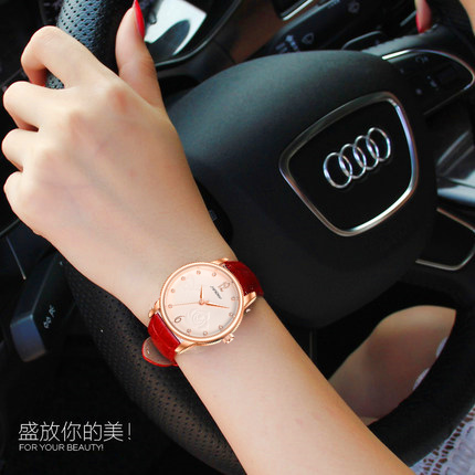 When nobby leisure belt ladies watches ladies watches rose gold diamond watches women watches belt female form