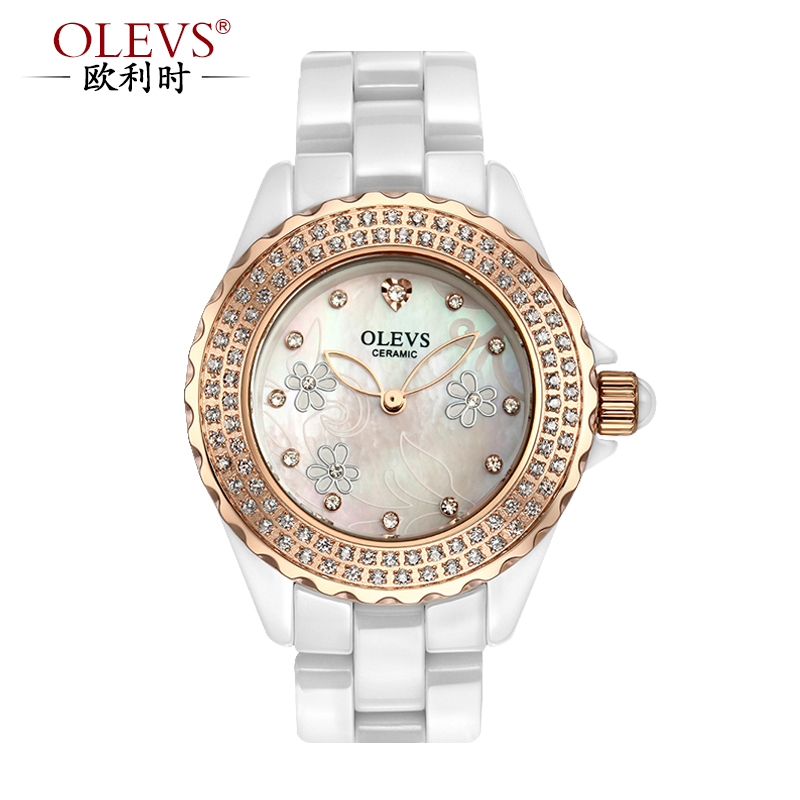 When orly (olevs) new authentic watches ceramic watches female tyrant gold ceramic female form quartz watch