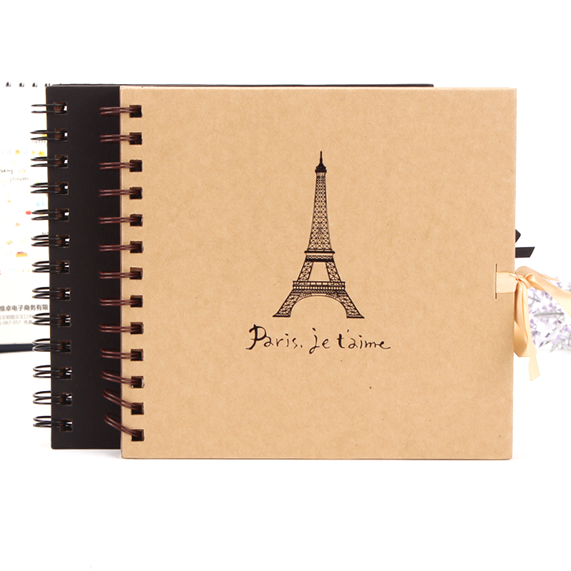 Where gifted korea stationery eiffel tower ribbon classic retro handmade diy album album album birthday gift