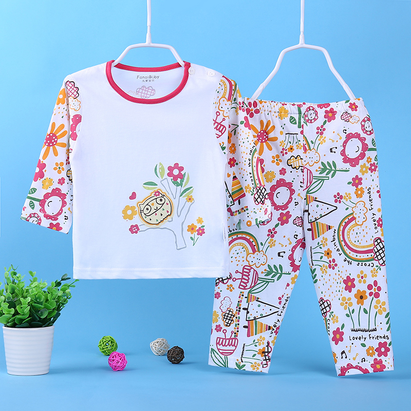 Where love baby baby baby underwear piece baby clothes for men and women breasted cotton suit shoulder buckle spring and autumn