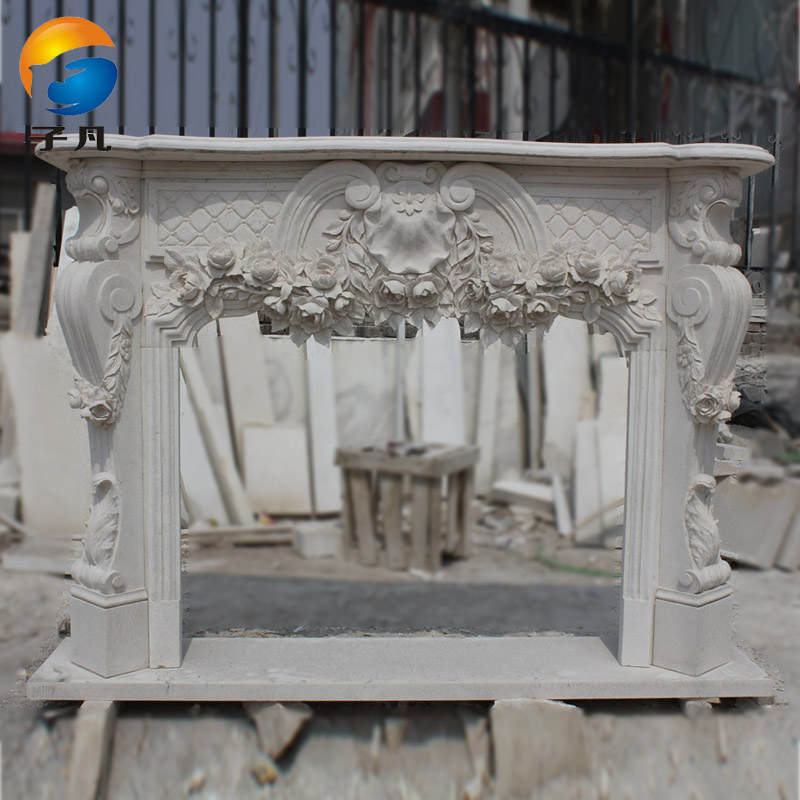 Where the sub euclidian stone carving marble fireplace stone fireplace mantel decoration cabinet custom natural american minimalist BL94