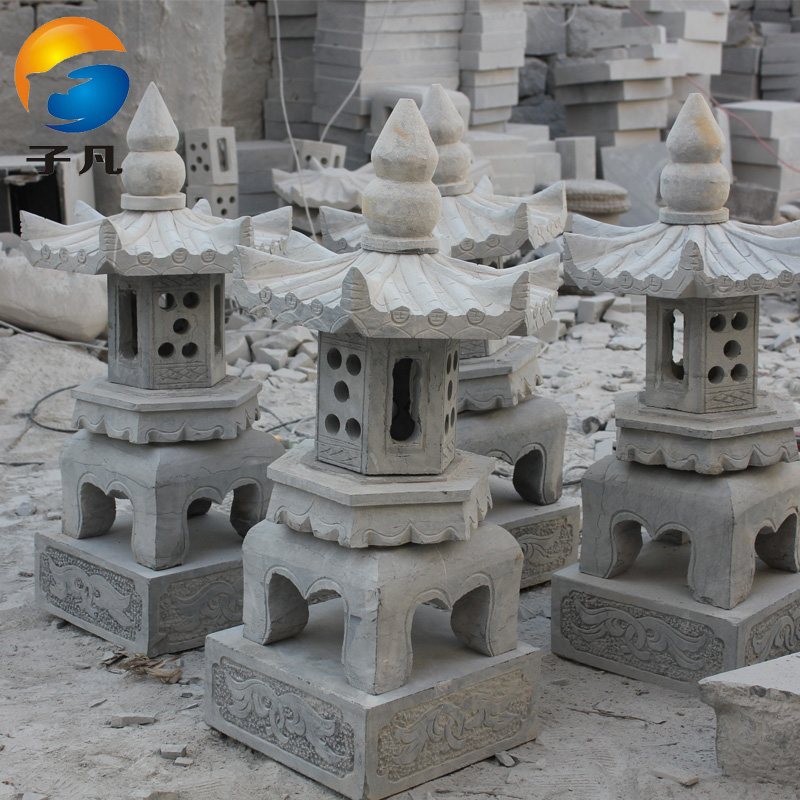 Where the sub natural bluestone stone carving stone antique to do the old deal placed in the chinese lanterns outdoor patio stone lantern SD81