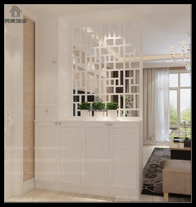 Get Quotations · White Paint Entrance Cabinet Partition Cabinet Foyer  Cabinet Minimalist Modern Chinese Custom Shoe Entrance Cabinet Partition
