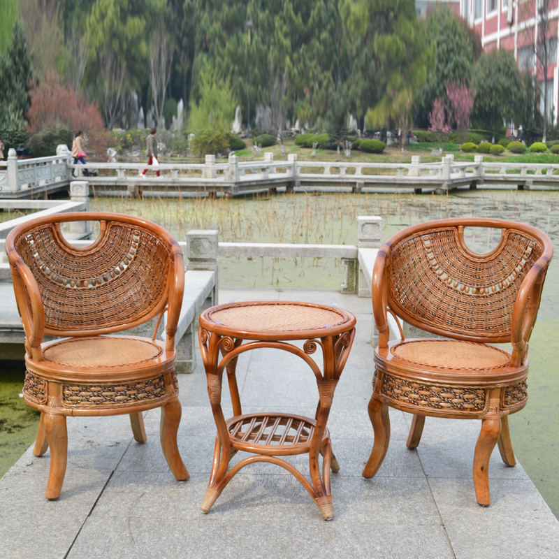 Wicker chair wicker chair wicker chair wicker chair wicker chair coffee table combination three sets of natural wicker chair wicker chair indoor rattan chair rattan chairs kit