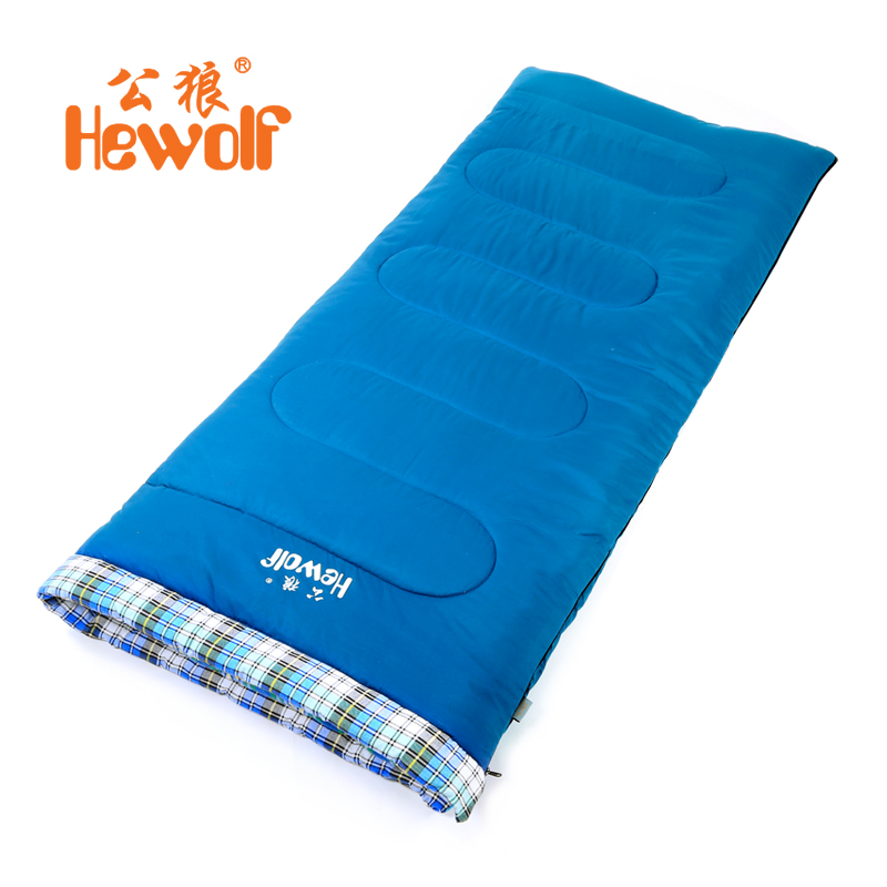 Widening thickening male wolf outdoor camping adult sleeping bag cotton sleeping bags in autumn and winter paul warm sleeping bag free shipping