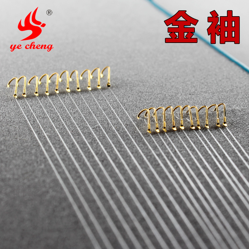 Wild into strand hook gold cuff sleeves stingless barbed fishing hook tied fishing line fishing tackle kit Supplies