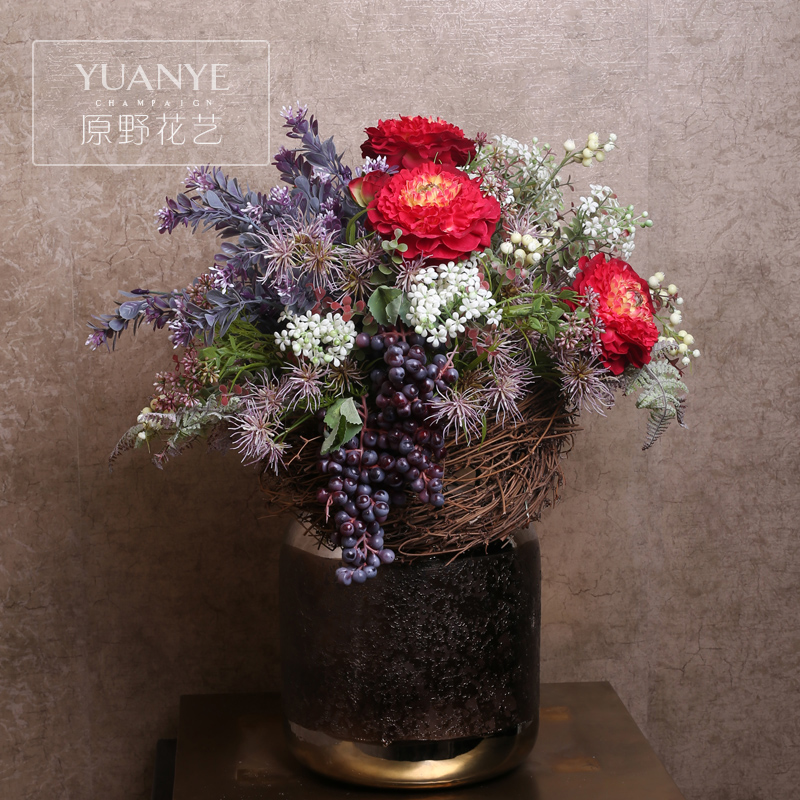 Wilderness and southeast asian style modern floral art artificial flowers artificial flowers decorative flowers high profile restaurant unique creative