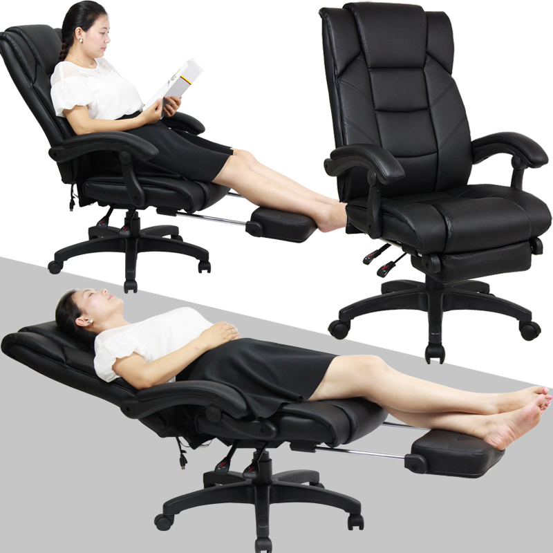 Wildfires ergonomic computer chair reclining chair home boss chair swivel 170 degrees high back office lunch siesta chair