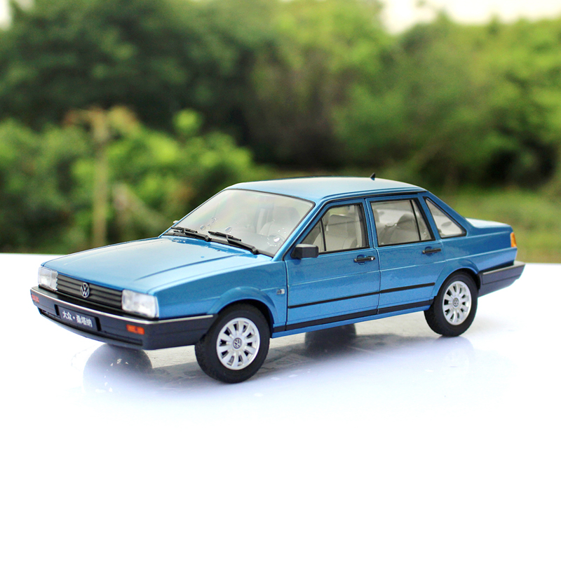 Willie/welly alloy 20121:18 volkswagen santana blue toy car model simulation birthday gift collection